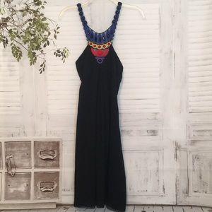 Catherine Malandrino beaded halter neck dress